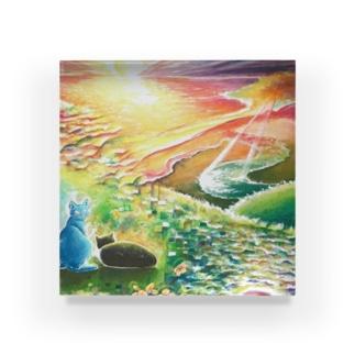 絵描き-國重 奈穂-5 Acrylic Block