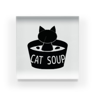 cat_soup Acrylic Block