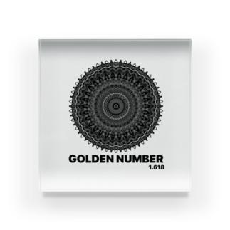 GOLDEN NUMBER Acrylic Block