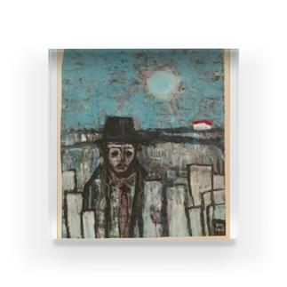 machi_wo_deru_hito Acrylic Block