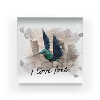 I love free Acrylic Block