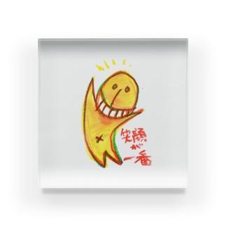 くまのよりみちの笑顔が一番 Acrylic Block