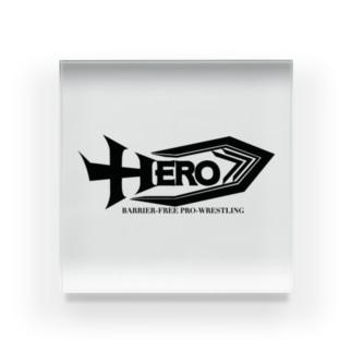 バリアフリープロレスHERO Acrylic Block