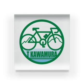 パ紋No.3300 T KAWAMURA アクリルブロック