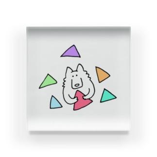 オオカミさんと三角 Acrylic Block