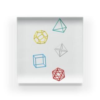 Regular Polyhedron アクリルブロック