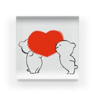 heart アクリルブロック