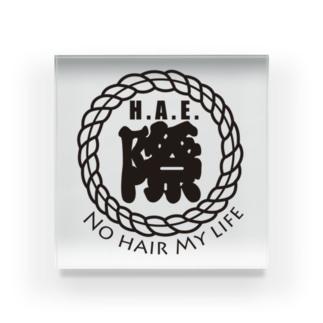 H.A.E.際 NO HAIR MY LIFE Acrylic Block