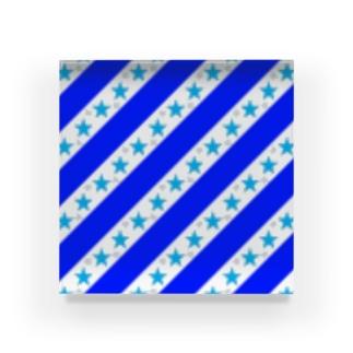 キュート☆ブルー☆ストライプ Acrylic Block