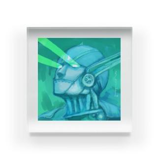 目からビーム(雷神紋) Acrylic Block