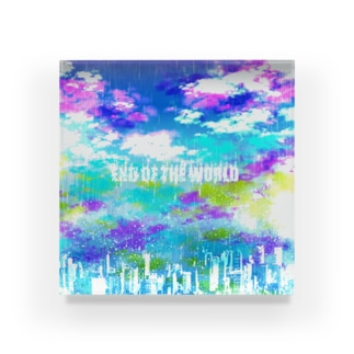 END OF THE WORLD  Acrylic Block