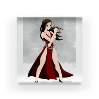 八卦掌の女性グッズ Acrylic Block