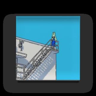 ラビット工務店の空への階段 Acrylic Block