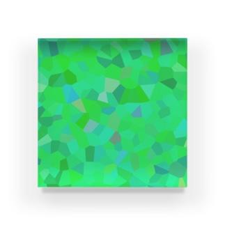 夏の葉満つ影モザイク Acrylic Block
