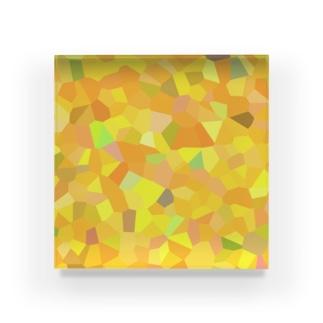 秋の陽射す地モザイク Acrylic Block