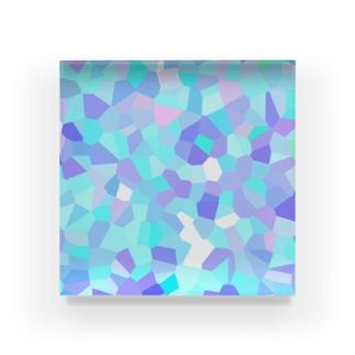 冬の薄氷と風モザイク Acrylic Block
