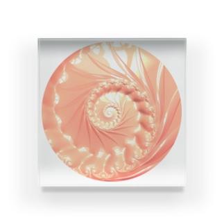 シェルフラクタル circleVer. Acrylic Block