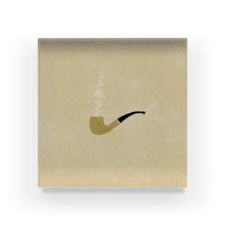 ぱいぷ Acrylic Block