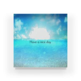 Sea3 Have a nice day Acrylic Block