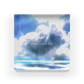 Sky3 Have a nice day Acrylic Block