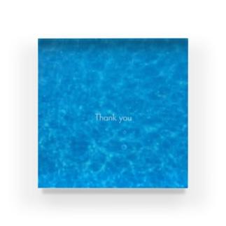 Blue sea2 Thank you Acrylic Block