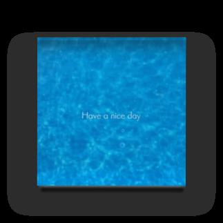 ANARCHYSEVENのBlue sea3 Have a nice day Acrylic Block