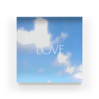 LOVEアクリルブロック Acrylic Block