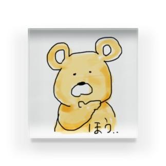 完全に論破される熊 Acrylic Block