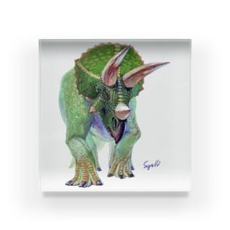 Triceratops Acrylic Block