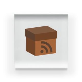 電波ダンボール Acrylic Block