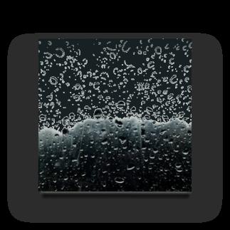 雨 アクリルブロック