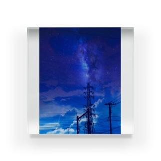 真夜中の送電線 Acrylic Block