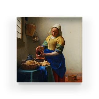 フェルメール「牛乳を注ぐ女」(加工済) Acrylic Block