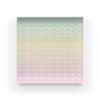 ヒゲメガネのレンサ Acrylic Block