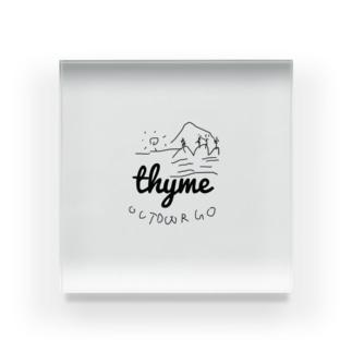thyme Outdoor go Acrylic Block