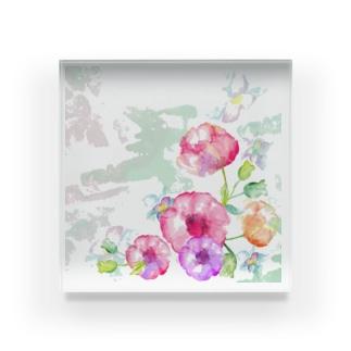 Flower +1 Acrylic Block