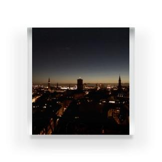 Copenhagen nightview Acrylic Block
