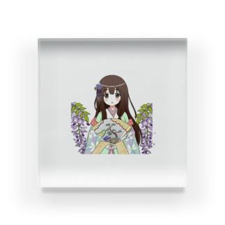 ときめく恋の百人一首(和泉式部) Acrylic Block