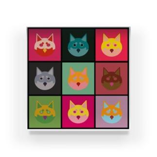 柴犬×アンディ・ウォーホル Acrylic Block