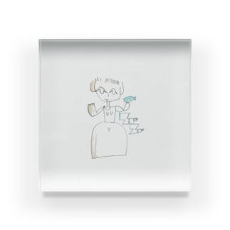 晩年の画風 vol.2 by soursox Acrylic Block