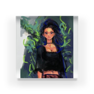 Who caught in a tree Acrylic Block
