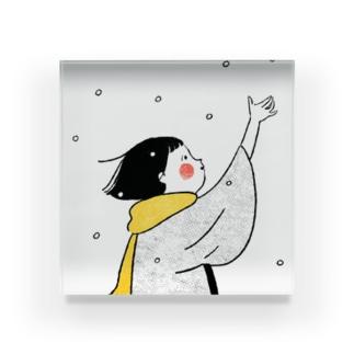 雪こん アクリルブロック