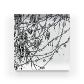 "BLACKINK "" Circle "" seriesのCircle-earthborn. Acrylic Block"