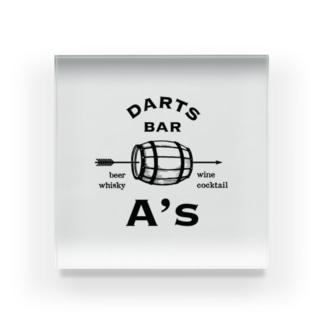 Darts Bar A's Acrylic Block