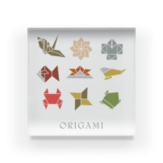 Drecome_DesignのORIGAMI Acrylic Block