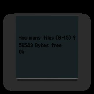 ponco2のBASIC起動画面 Acrylic Block