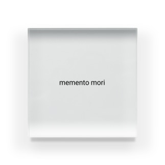 memento mori Acrylic Block