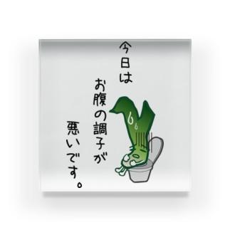 ながねぎ トイレ ~今日はお腹の調子が悪いです~ Acrylic Block
