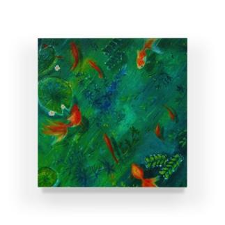 アクリルブロック_8匹の金魚 Acrylic Block