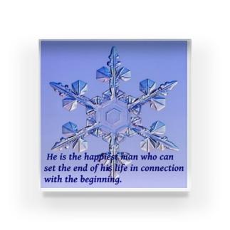 雪の華 Acrylic Block